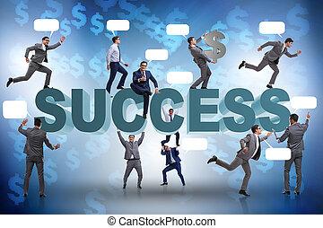 成功, 概念, 商人, 事務