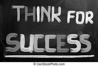 成功, 概念, 考えなさい