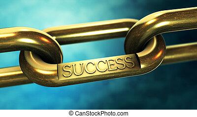 成功, 概念, 鎖, ビジネス