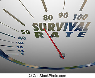 成功, 生き残り, チャンス, イラスト, レート, 測定, 速度計, 3d
