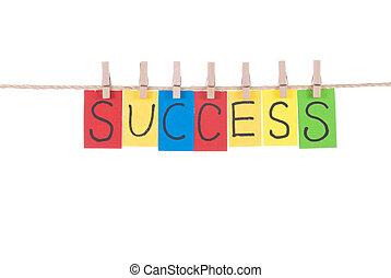 成功, 詞, 懸挂, 所作, 木制, 釘