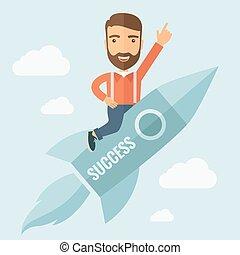 成功, 飛行, 火箭人