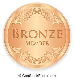 成員, 葡萄酒, 徽章, 青銅, 圖案