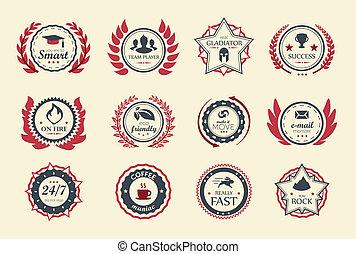 成就, 徽章