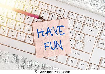 成形, 长方形, 纸, 意思, 正文, wood., 笔迹, 白色, 空, 提供, 享乐, 提供, 有, 任务, fun...