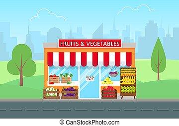 成果, shop., 野菜