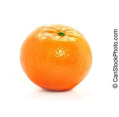 成熟, mandarine, 水果, 被隔离, 食物, 在懷特上, 背景