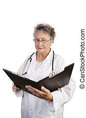 成長した医者, 再検討, 女性, チャート