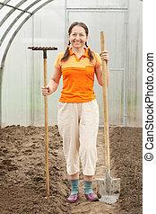成長した, 温室, 庭師