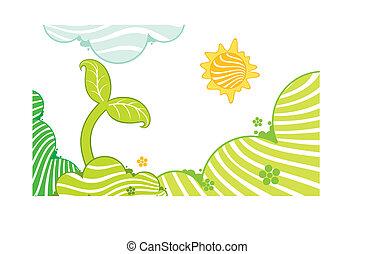 成長する, 小さい, 植物