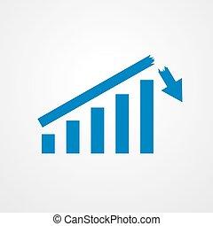 成長する, 棒 グラフ, icon., ベクトル, illustration.
