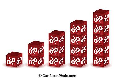 成長する, percents, イラスト
