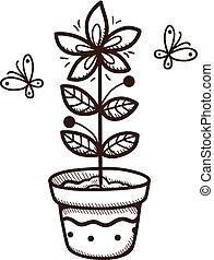 成長する, pot., 植物