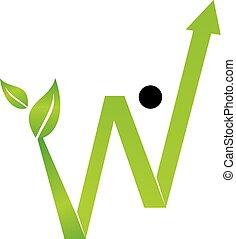 成長, ビジネス, ベクトル, デザイン, テンプレート, ロゴ