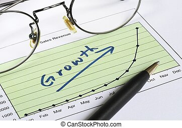 成長, 在, 生意概念, ......的, succe