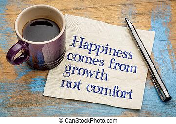 成長, 幸福, 来る