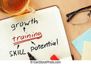 成長, 訓練, 以及, 技巧