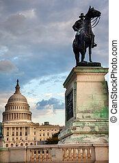 我們, 小山, 華盛頓特區, 雕像, 州議會大廈, 應承, 紀念館