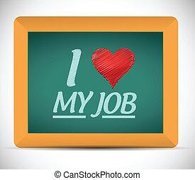 我, 愛, 我, 工作, 消息, 插圖, 設計