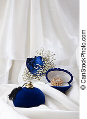 戒指, 婚禮, 藍色, 玫瑰