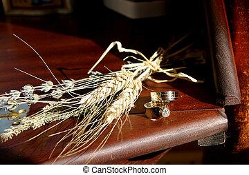 戒指, 小麥, 婚禮