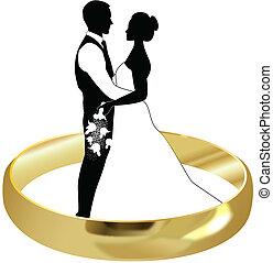 戒指, 新娘和新郎