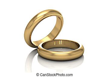 戒指, 美麗, 婚禮