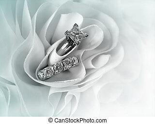 戒指, 鑽石, 婚禮
