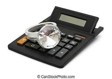 戒指, 鑽石, 費用