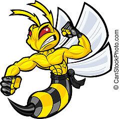 戦い, スズメバチ