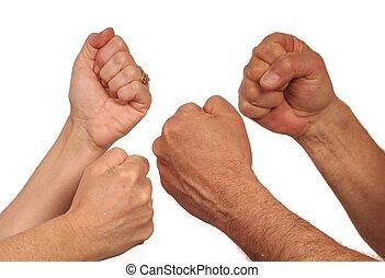 戦い, 手