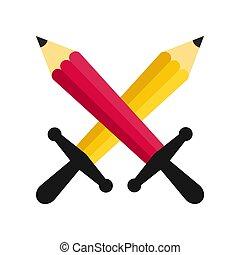 戦い, 鉛筆, 交差点