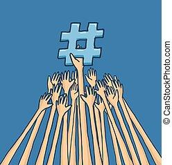 戦うこと, 手, topic, trending, リーチ, hashtag