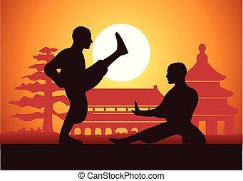 戦争である, kung, ボクシング, 中国語, fu, 芸術