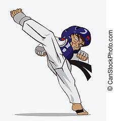 戦争である, taekwondo., 芸術