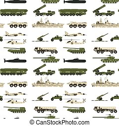 戦争, 装甲, 軍隊, よろいかぶと, 人員, 産業, システム, カモフラージュ, seamless, ベクトル, 背景 パターン, 軍のタンク, technic, 輸送, illustration.