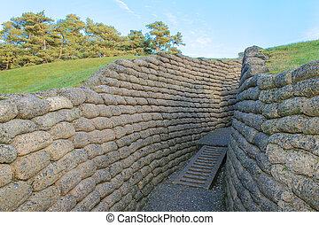戦場, vimy, 峰, trenches, フランス
