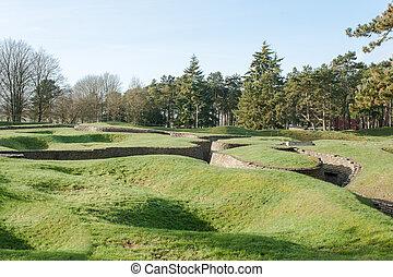 戦場, vimy, trenches, フランス