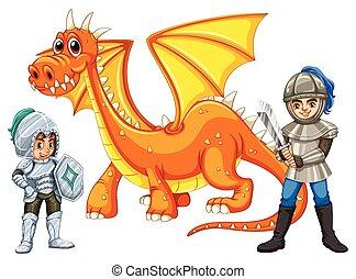 戦士, ∥で∥, a, ドラゴン