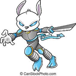 戦士, cyborg, ベクトル, ninja, 兵士