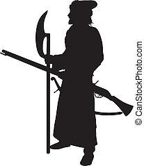 戦士, shooter., 主題, 中世