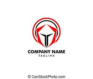 戦士, spartan, イラスト, ベクトル, デザイン, ロゴ