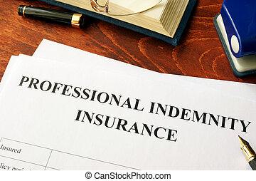 戦略, 専門家, 損害保障, テーブル。, 保険