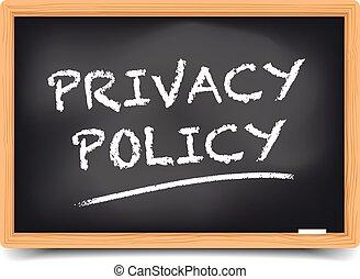 戦略, 黒板, プライバシー