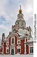戰士, 莫斯科,  russia, 街, 約翰, 教堂
