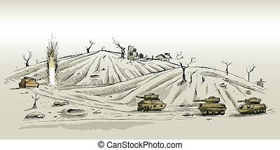 戰斗, 坦克
