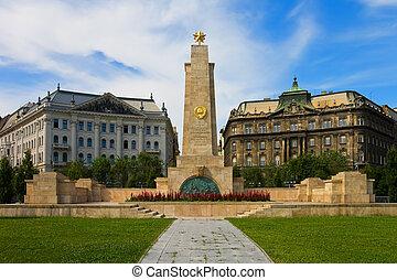 戰爭 紀念品, 在, 布達佩斯, 匈牙利