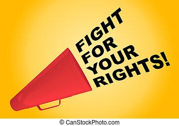 戰鬥, 為, 你, rights!, 概念
