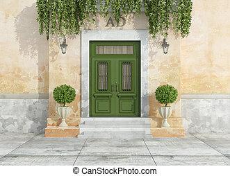 戶外, 入口, ......的, a, 國家房子
