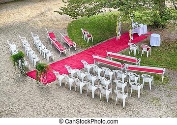 戶外, 地方, 婚禮